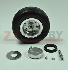 1PC 3.5INCH Solid rubber wheel with brake axle RC AIRPLANE Viper Braking System