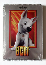 Disney Aspiring Superhero Dog Bolt on DVD in Real 3D Collectible Tin Packaging