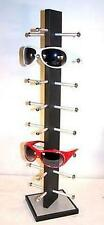 BRAND NEW 8 PAIR BLACK WOODEN SUNGLASS DISPLAY RACK wood sunglasses holder