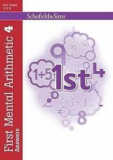 First Mental Arithmetic Answer Book 4 (of 6): Key Stage 1/Key Stage 2, Ann Monta
