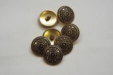 8pc 15mm Antique Gold Turkish Inspired Metal Coat Cardigan Knitwear Button 3349