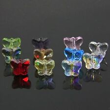72pcs Swarovski 5x6x10mm Butterfly Sparkling Crystal bead A Multi-colored