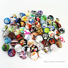 50pcs Mixed Round Fashion Alloy Charms18mm Chunks Snap Buttons Fit Bracelet