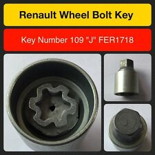 "Genuine Renault locking wheel bolt / nut key FER1718 109 ""J"""
