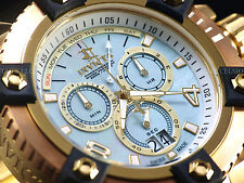Invicta Reserve Men Grand 63mm Arsenal White MOP Swiss Made Chrono 18KGIP Watch