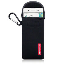 Shocksock Neoprene Pouch Case with Carabiner for Sony Xperia XA - Black