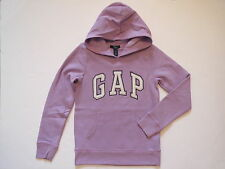 NWT Girls GAP KIDS Purple Pullover Arch Logo Fleece Hoodie Sweatshirt Size L 10