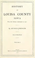 1912 LOUISA County Iowa IA, History and Genealogy Ancestry Family Tree DVD B38