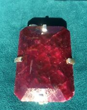 BLOOD RED, EMERALD CUT RUBY PENDANT, 379.70 CT WITH APPRAISAL