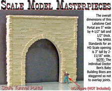Tunnel Portal-Split Granite Stone Scale Model Masterpiece HO/1;87 Fine Craftsman