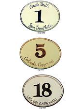 Numero civico 19x13 targa ceramica insegna mattonella ovale