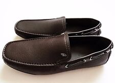 $895 BRIONI Brown Leather Shoes Loafers Moccasins Size 9.5 US 42.5 Euro 8.5 UK