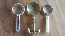 Antique Magnifying Glasses- Set of Three