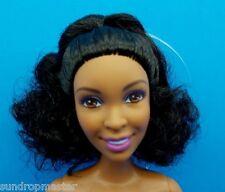 2015 Barbie Fashionistas AA Nikki Doll Brown Eyes Black Curly Hair Nude 4 OOAK