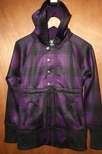NWOT Burton Dryride Softshell Purple & Black Plaid Women's Jacket Fleece Lined