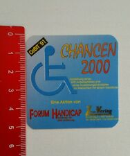Pegatina/sticker: cebit 1991-foro handicap (060716190)