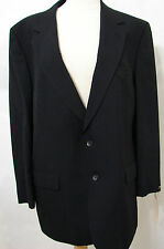 "Custom Worn ""ELI WALLACH"" Vintage HALSTON Black 2 Button Wool Jacket 44L"