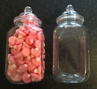 **SLIGHT SECONDS*** 10 x 995ml SQUARE Sweet Jars Candy Buffet Kids Party Wedding