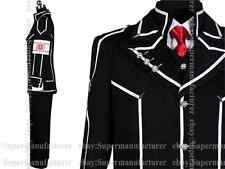 Anime Vampire Knight Boys' Day Black Class Uniform Cosplay Costume,Note size pls