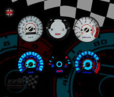 Fits: Rover Mini 180km/h speedo custom lighting upgrade dashboard white dial kit