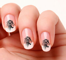 20 Nail Art Decals Transfers Stickers #332 Tribal Lion Head  peel & stick