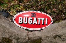 Très belle vintage émail automobile voiture emblème # ettore bugatti motors france