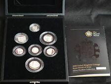 2008 ROYAL SHIELD OF ARMS PIEDFORT SILVER PROOF  7 COIN SET - complete