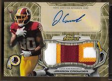 2015 Topps Finest Superfractor Jamison Crowder Auto 3 Color Patch Rc # 1/1