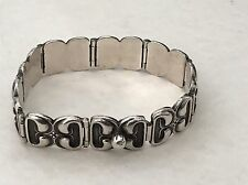 Hans Hansen Denmark Solid Sterling Silver 925 Screw Ball Bracelet