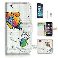 iPhone 7 (4.7') Flip Wallet Case Cover P2919 Space Travel