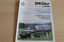 112677) Mitsubishi L 200 - SNUG-TOP - Prospekt 04/1994