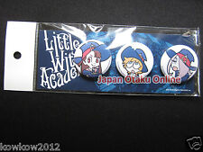 Rare Little Witch Academia Pin BUTTON Set of 3 TRIGGER Official Goods in Stock