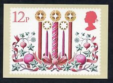 """A Post Office Picture Card. Issued 1980 """"Christmas/Candles""""."""