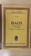 Bach: Concerto For Two Pianos: Music Score