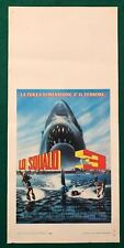 LOCANDINA ORIGINALE  LO SQUALO 3 JAWS ARMSTRONG CULT  1 ° EDIZIONE 1983 RARA