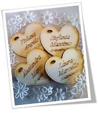200 cuori nomi incisi matrimonio legno etichette per bomboniera e segnaposto