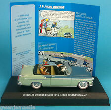 SPIROU & FANTASIO CAR VOITURE CHRYSLER WINDSOR DELUXE 1955 N°12 1/43 no tintin