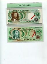 WORLD BANK NOTE - PHILIPPINES 5P WITH DIFF. GOVERNORS SGN UNC  # B117