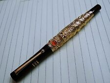Jinhao Fountain Pen Flying Dragon with Pearl Emboss Golden
