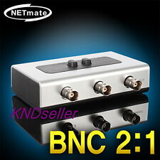 BNC Manual Switch BOX Composite Audio,video CCTV Camera Selector RG59 Coaxial