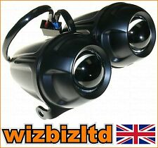 Motorcycle Twin Round PROJECTOR Head Light (E-Marked High Low DIP) HLUDMN02
