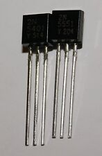 2N5401 2N5551 transistor TO-92 (2 paire) neuf