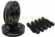 2Pc 30mm Black Audi Volkswagen 5x100 5x112 Hub Centric Wheel Spacers Black Bolts