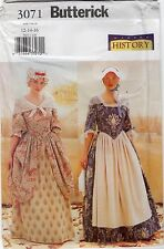 Historical costume sewing pattern tailles 12 - 16 inutilisé
