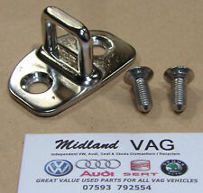VW Bora Golf Mk4 Door Lock Catch Striker & Bolts Chrome 3B0837033K 3B0 837 033 K