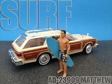 SURFER MATTHEW FIGURE FOR 1:24 SCALE DIECAST MODEL CARS AMERICAN DIORAMA 23909