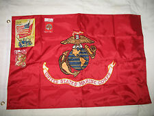 2x3 Embroidered Sewn USMC Marine Corps 300D Solarmax Nylon Double Sided Flag