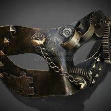 Steampunk Costume Theater Masquerade Mask for Men - Metallic Gold