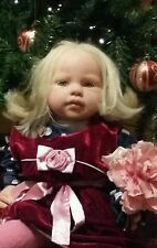 JANNIE DE LANGE LOUISA reborn toddler doll baby girl AMAZING BLONDE HAIR ROOTED