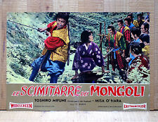 LE SCIMITARRE DEI MONGOLI fotobusta poster Toshiro Mifune Saga of the Vagabonds
